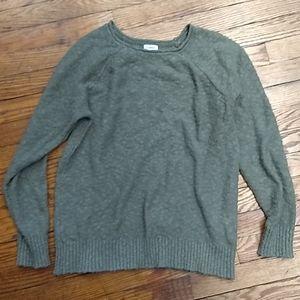 LL Bean moss green sweater